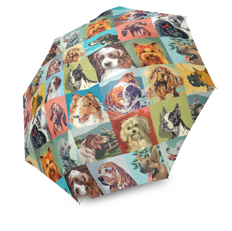 paint by number dogs umbrella