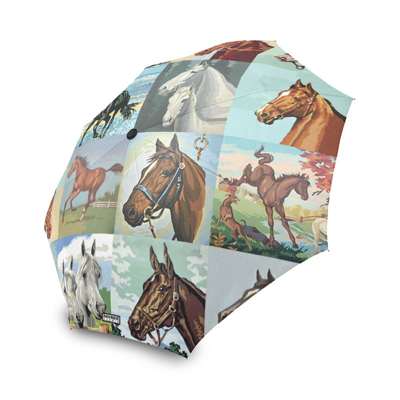 paint by number horses umbrella