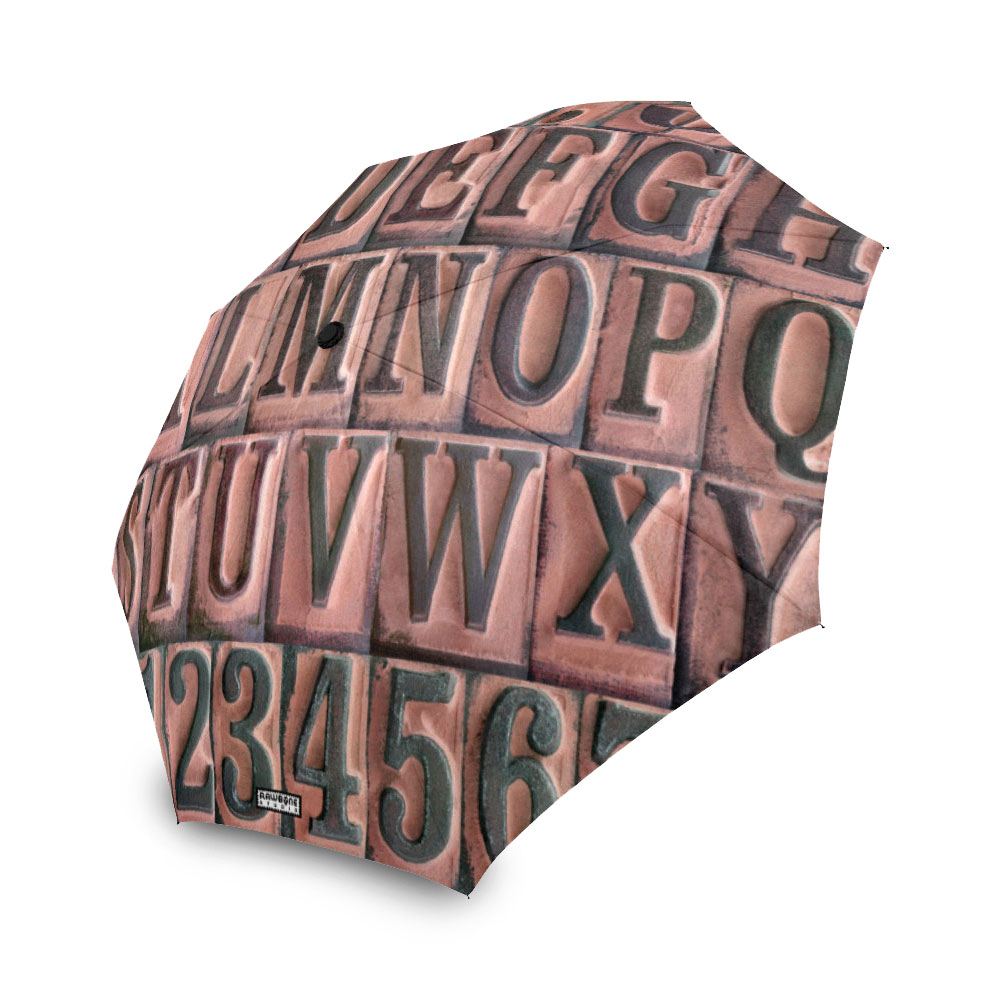 photographic rubber stamp letters umbrella