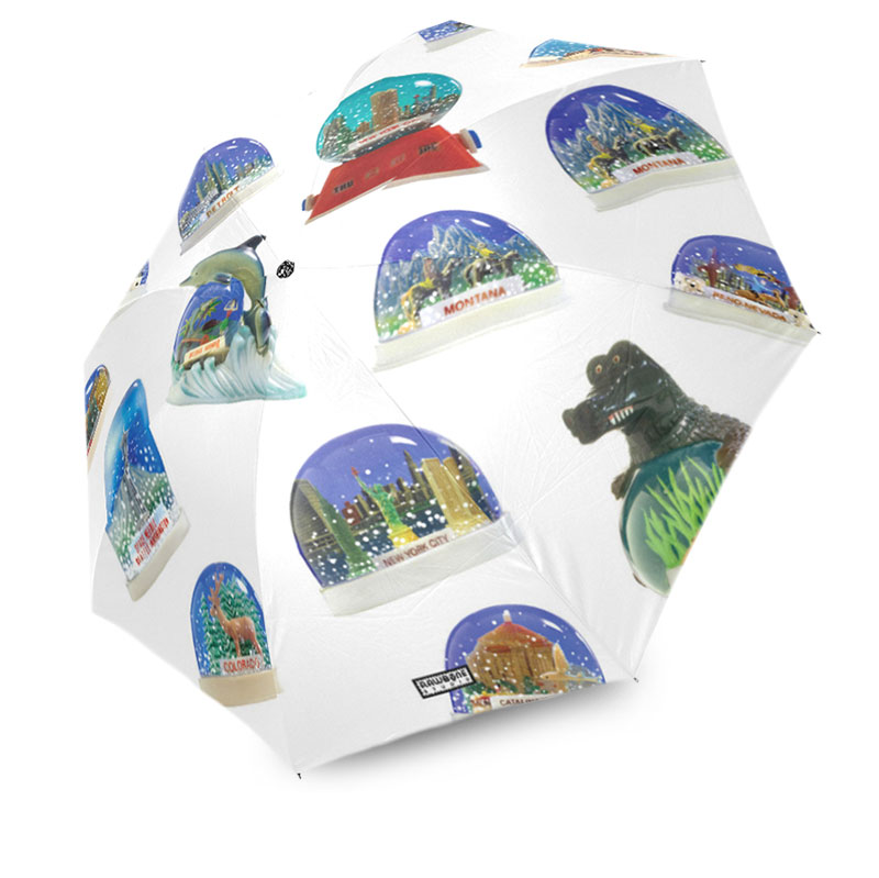 photographic vintage snow domes globes umbrella