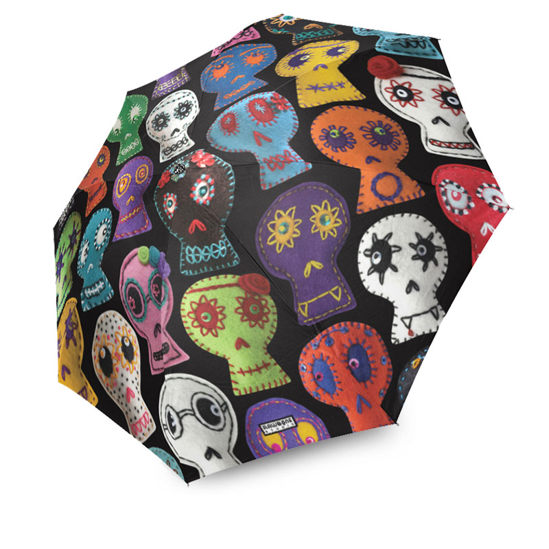 day of the dead sugar skulls umbrella