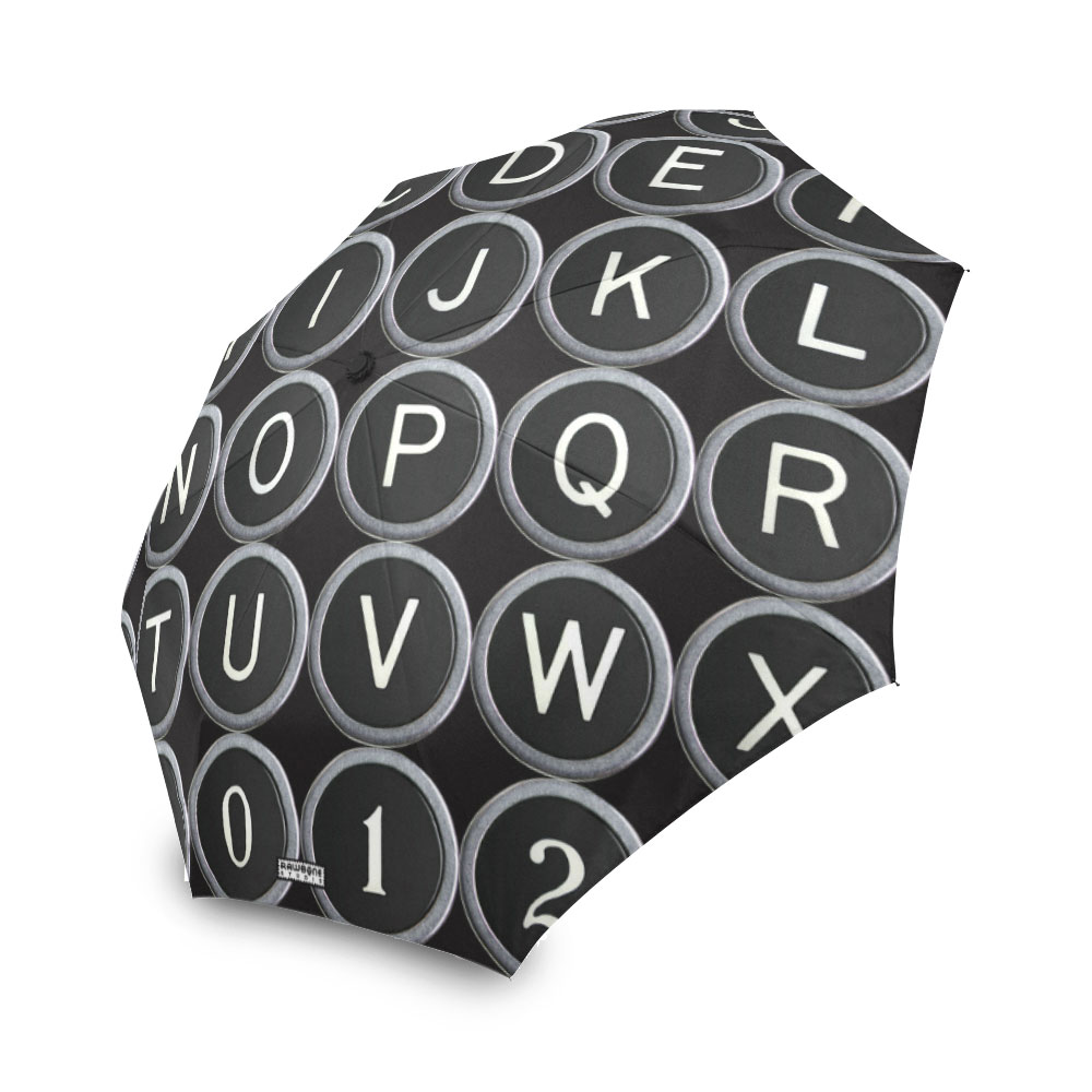 photographic typewriter keys umbrella